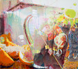 Clubhouses-greenies-lemonade, Acrylic on canvas, 150 x 133 cm, 2012 © Kenneth Pils